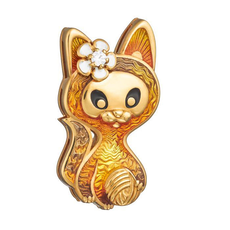 Купить Значок эмалевый Семейная Игривый котенок Namfleg детский, Нет цвета, серебро
