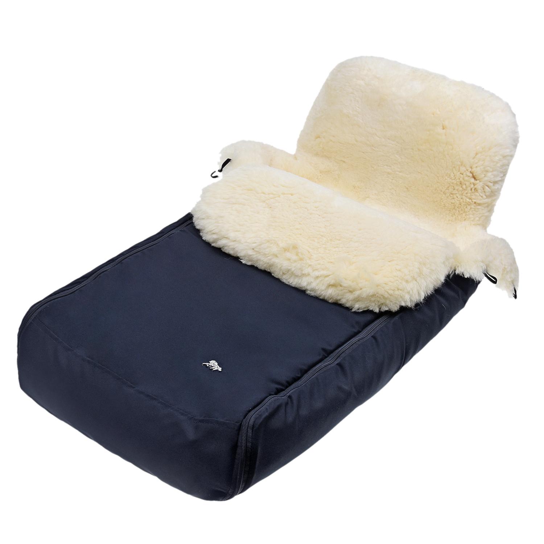 Купить Конверт в коляску, серый Hesba, Нет цвета, овчина