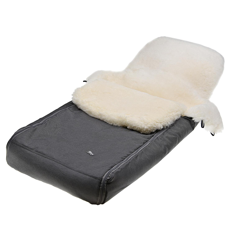 Купить Конверт в коляску, темно-серый Hesba, Нет цвета, овчина