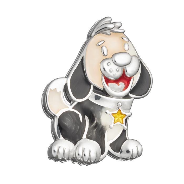 Купить Значок эмалевый Семейная Пушистый шериф Namfleg детский, Нет цвета, серебро