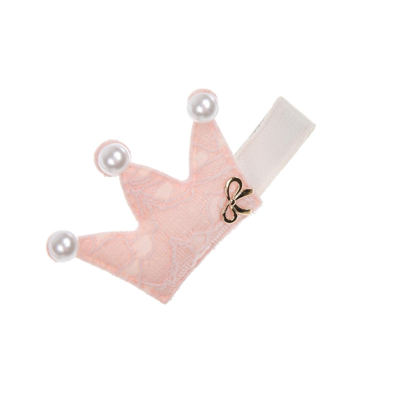 Купить Розовый зажим для волос Корона Rena Chris детский, Нет цвета, см. на уп.