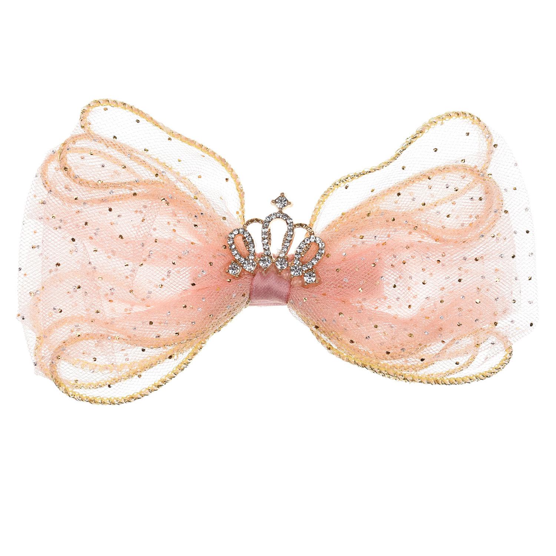 Купить Зажим для волос Корона , розовый Tais детский, Нет цвета, см.на упак.