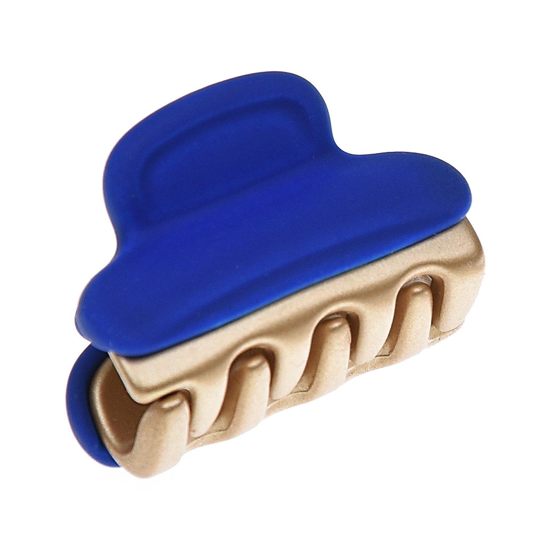 Купить Заколка-краб, синий, 2, 5x1 см Tais детская, Нет цвета, Акрил, эмаль
