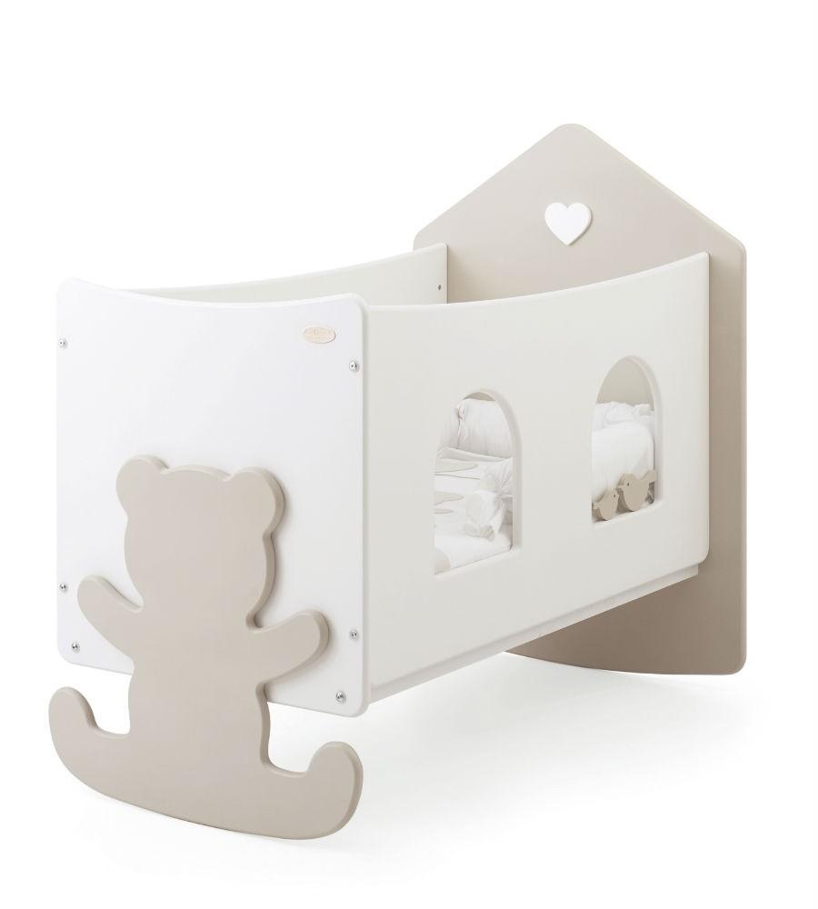Купить Кровать коллекция Casetta с окошечками, белый/кремовый, Baby Expert