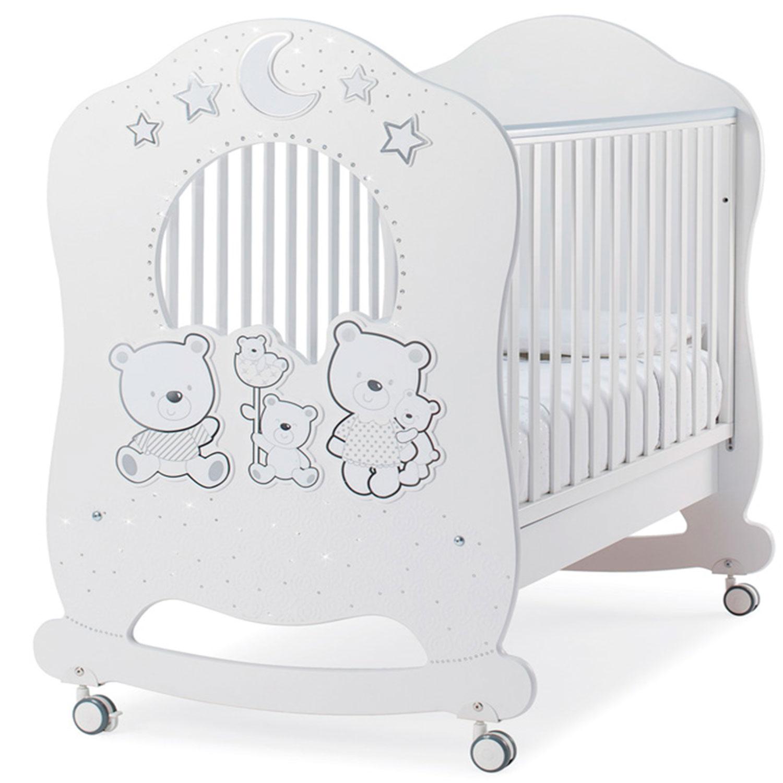 Купить Детская кровать Happy Family Oblo , белая ITALBABY