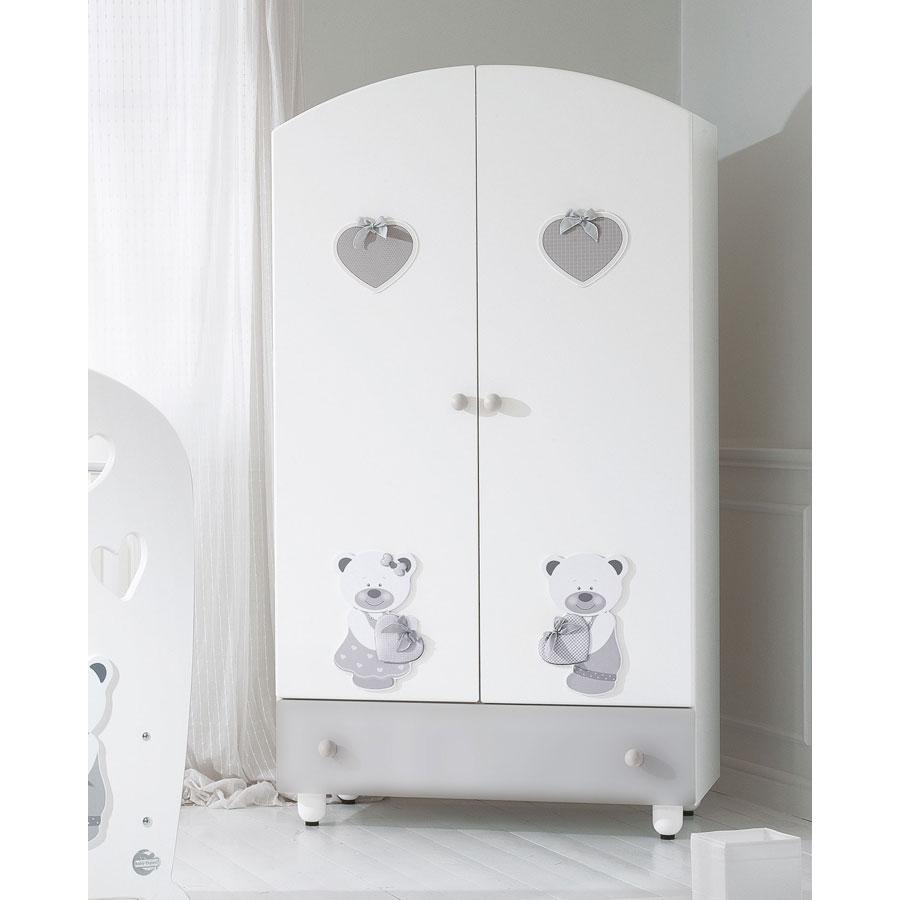 Купить Шкаф Baby Expert Bon Bon, белый/серый