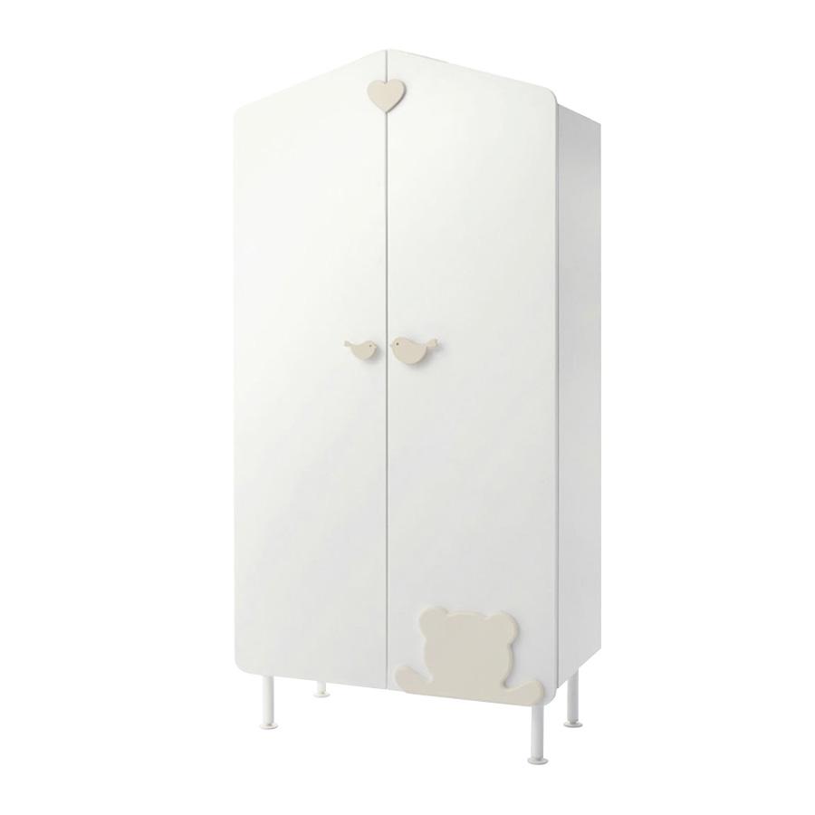 Шкаф Casetta, белый/кремовый, Baby Expert  - купить со скидкой