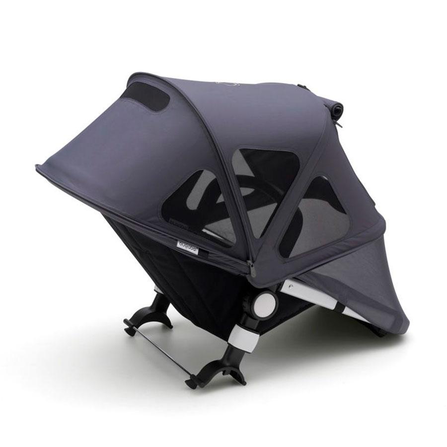 Купить Капор от солнца для коляски Cameleon3/Fox/Fox2 breezy Stellar/Steel Blue Bugaboo, Нет цвета, 100% полиэстер с защитой от от ультрафиолета 50+
