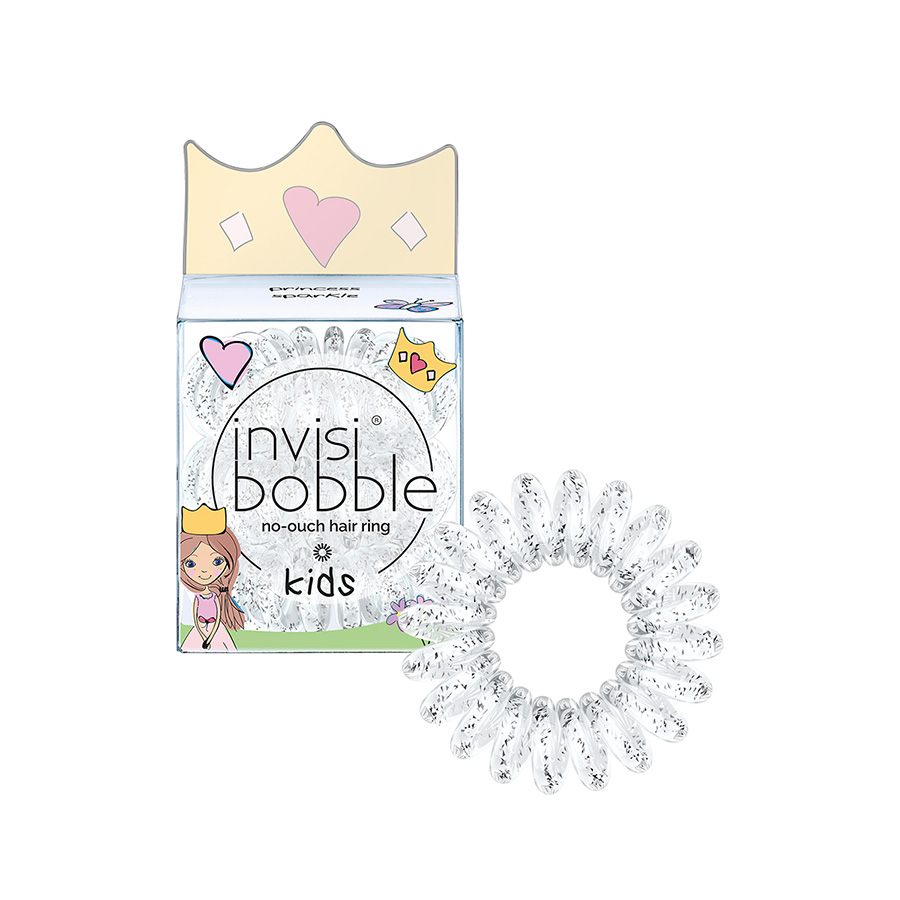 Резинка для волос Invisibobble KIDS princess sparkleОбодки, заколки, резинки<br>