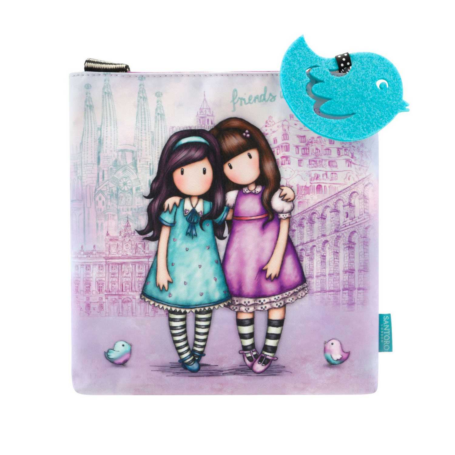 Купить Сумка на плечо Friends Walk Together серия Gorjuss Stripes 26x21x2 см, Santoro London