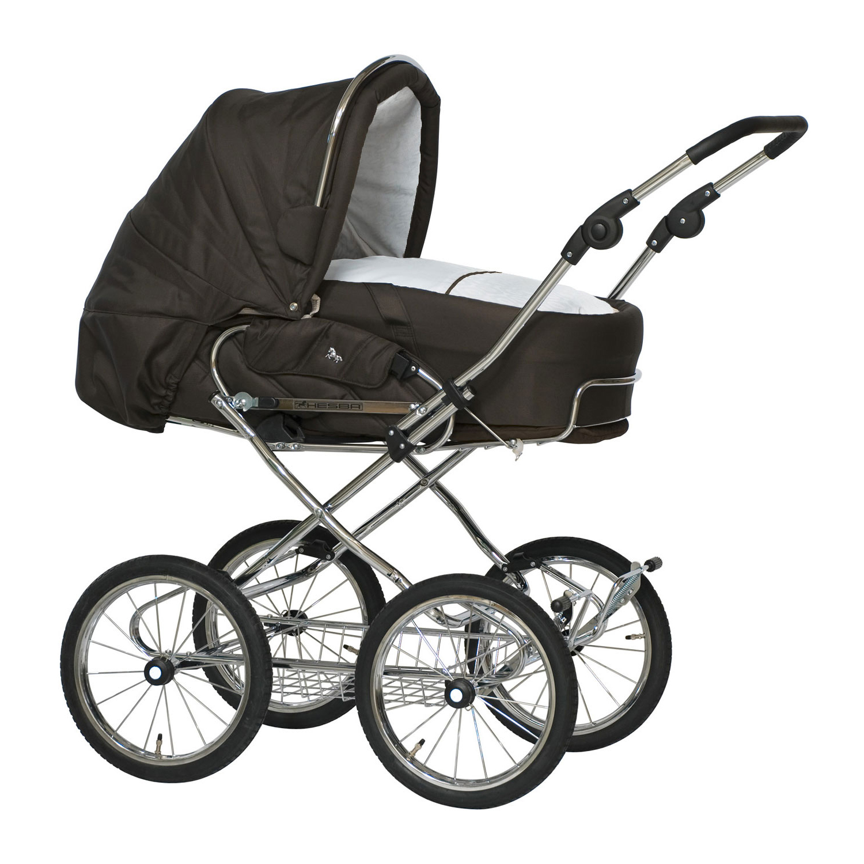 Коляска 2 в 1 Condor Coupe + сумка, тканьКоляски для новорожденных<br>Откройте для себя коляски HESBA ручной работы высочайшего немецкого качества.brgt; Коляски HESBA являются надежными, долговечными и всесезонными, что делает их идеальными компаньонами для прогулки не только в солнечные дни.brgt; Hesba Condor Coupe - это сочетание традиционного дизайна и спортивного стиля, который оценят, современные родители, следящие за модой и не пренебрегающие классикой.brgt; Классические модели Hesba Condor Coupe выполнены из ткани. Ручка коляски с кожаной накладкой. Материалы, используемые при изготовлении, соответствуют всем европейским стандартам качества и абсолютно безопасны.brgt; Высококачественная подвеска хромированной рамы обеспечивает мягкий ход коляски по любым дорогам, а плавное качание позволяет детям спать спокойно.brgt; Ваш ребенок растет и развивается, и наши детские коляски растут с ним вместе! Первые 6 месяцев ваш ребенок комфортно лежит в люльке-переноске, которая удобно фиксируется внутри прогулочного блока. Как только ваш ребенок начинает сидеть, его можно посадить в прогулочный блок.brgt; Спинка прогулочного блока может регулироваться в пяти разных положениях и позволяет сидеть, лежать или лежать в более высоком положении. Прогулочное сиденье устанавливается как по ходу, так и против движения. Подставка для ног регулируется в трех положениях. Капюшон можно снять.brgt; Прочное стальное хромированное шасси с корзиной для покупок в нижней части корпуса. Корзина выдерживает до 5 кг. Шасси легко складывается и помещается в багажник автомобиля. Обратите внимание, что хромированному шасси необходимо регулярное техническое обслуживание.brgt; Ручка с накладкой из натуральной кожи высочайшего качества легко регулируется по высоте.brgt; Вы можете выбрать различные типы колес*:brgt;  - Бескамерные колеса черного цвета с комфортом пневматической шины, диаметром 30 смbrgt; - Изящные белые резиновые жесткие шины диаметром 30 см менее прочны, но идеально подходят, в каче