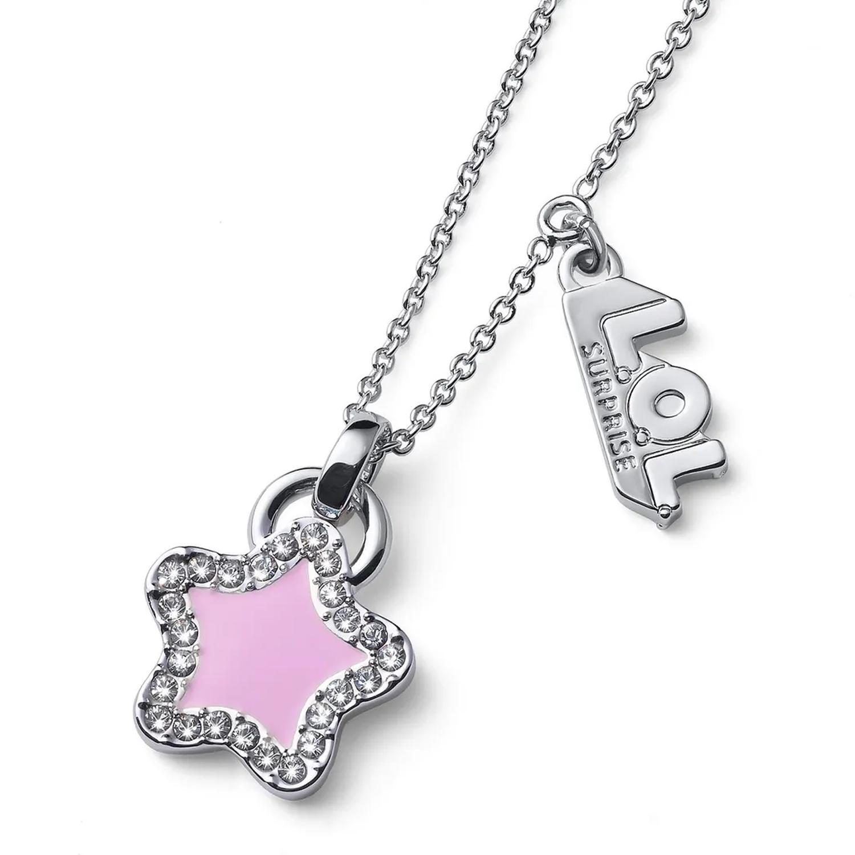 """Цепочка с кулоном """"Звезда"""", кристаллы SWAROVSKI, розовый Oliver Weber Collection детская, Нет цвета, латунь с родиевым покрытием  - купить со скидкой"""