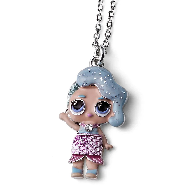 Купить Цепочка с кулоном Splash Queen , кристаллы SWAROVSKI Oliver Weber Collection детская, Нет цвета, латунь с родиевым покрытием