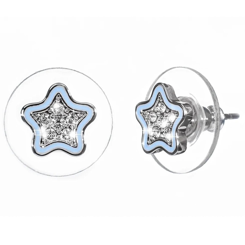 Купить Серьги Мечта Звезда, кристаллы SWAROVSKI, аквамарин Oliver Weber Collection детские, Нет цвета, латунь с родиевым покрытием