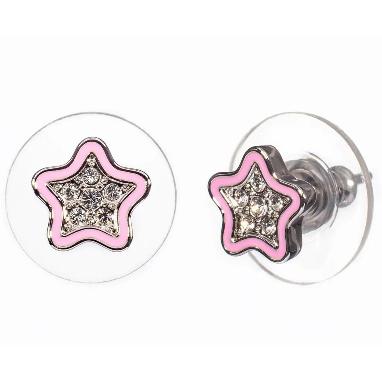 Купить Серьги L.O.L. Surprise! Мечта Звезда , кристаллы SWAROVSKI, розовый Oliver Weber Collection детские, Нет цвета, латунь с родиевым покрытием