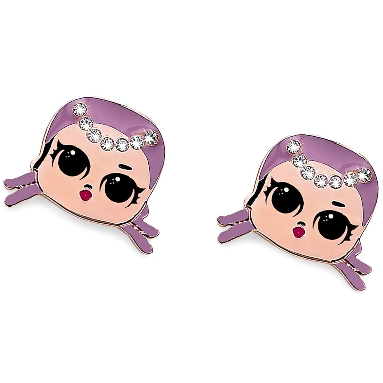 Купить Серьги Merbaby , кристаллы SWAROVSKI Oliver Weber Collection детские, Нет цвета, нержавеющая сталь с 18-каратным покрытием из розового золота