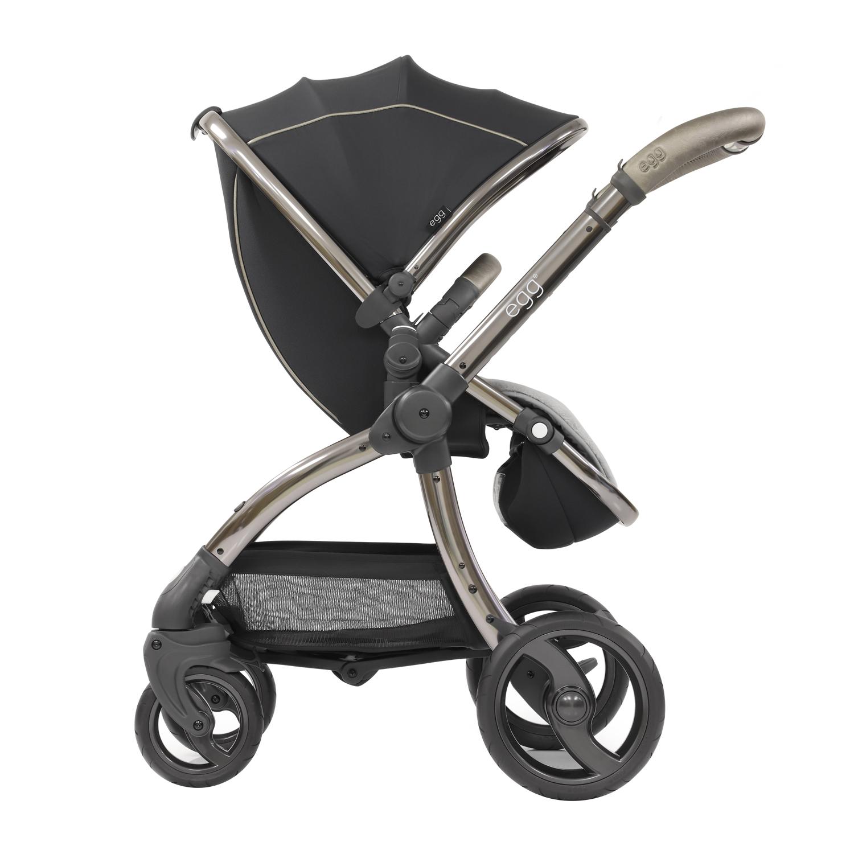 Купить Коляска Stroller Shadow Black & Gun Metal Mirror Chassis egg