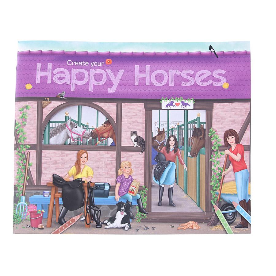 Альбом Depesche Создай своих веселых лошадей с наклейками