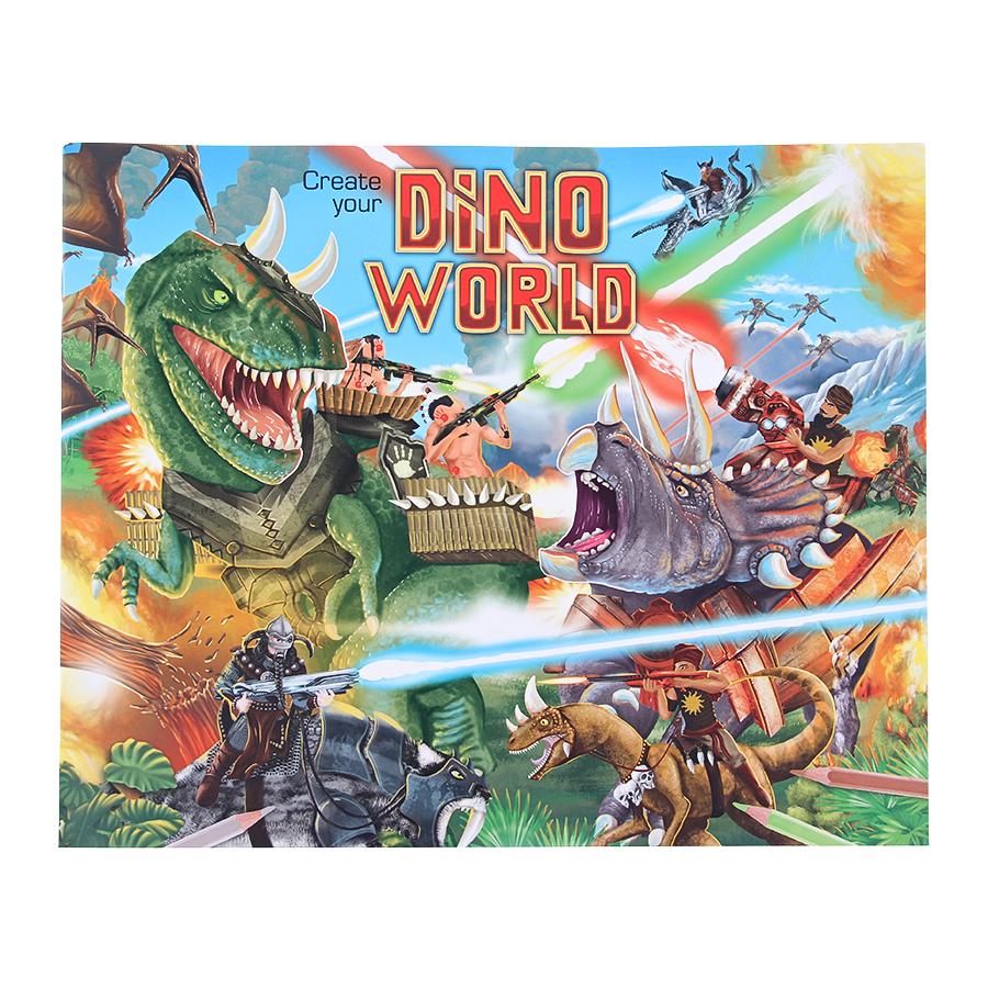Альбом Depesche с наклейками Create your DinoДля творчества<br><br>