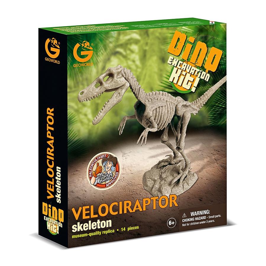 Набор Geoworld для проведения раскопок Велоцираптор