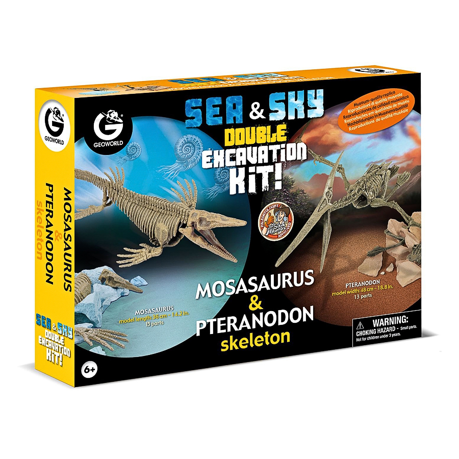Набор Geoworld  Двойной набор для проведения раскопок Мозазавр и ПтеранодонРазвивающие игрушки<br><br>