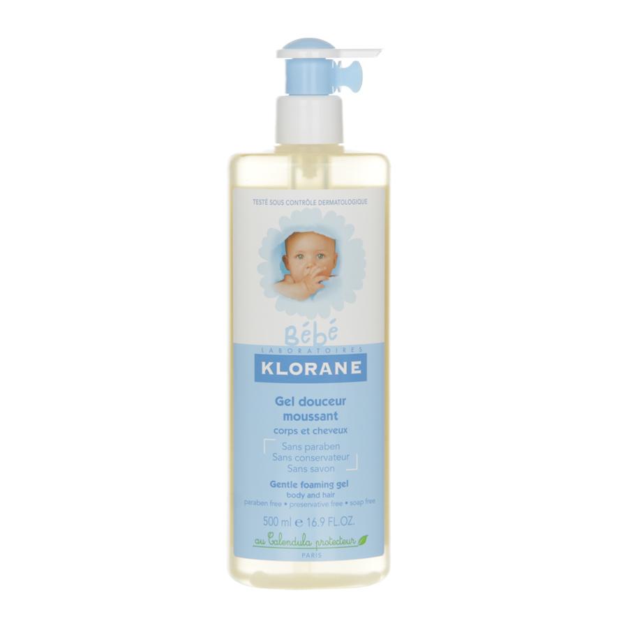 Гель Klorane Bebe для волос и тела нежный пенящийся, с экстрактом календулы