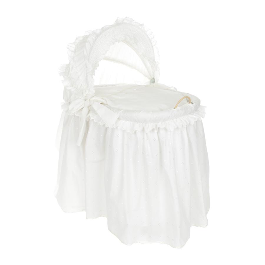 Кровать-колыбель Leipold Damaris с постельными принадлежностямиКорзины-переноски<br>В комплект входит тканевая отделка, матрас,  наволочка, пододеяльник, простынь,  подушка , одеяло.