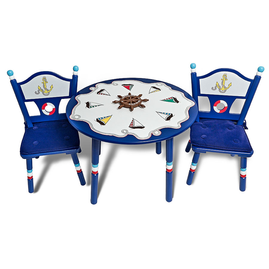 Комплект Major-Kids Маленький Капитан стол, два стула