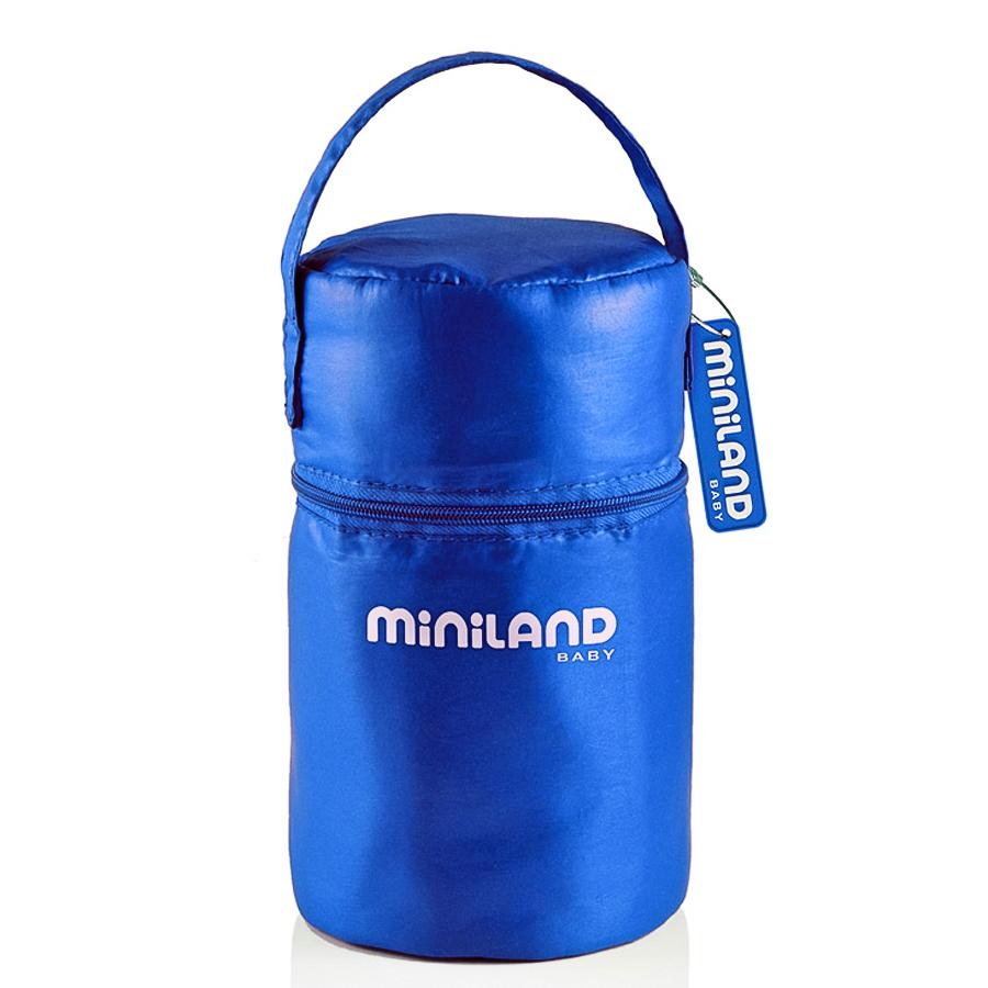 Термосумка Miniland Pack-2-Go с 2 мерными стаканчиками, синяя