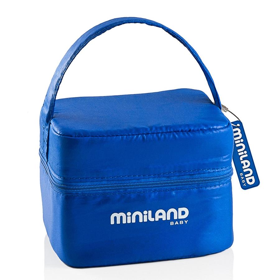 Термосумка Miniland Pack-2-Go с 2 вакуумными контейнерами, синяя