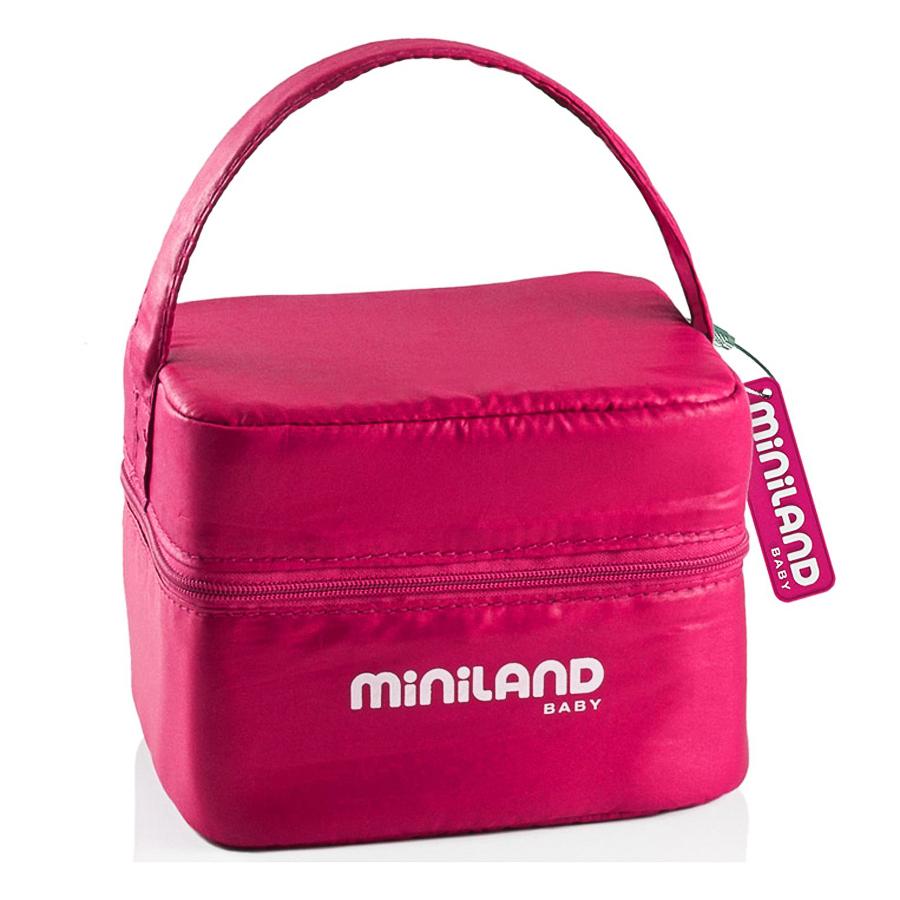 Термосумка Miniland Pack-2-Go с 2 вакуумными контейнерами, розовая