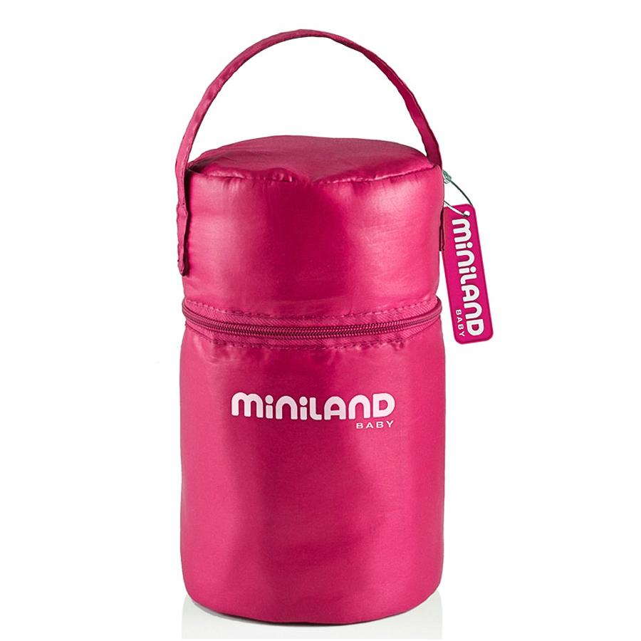 Термосумка Miniland Pack-2-Go с 2 мерными стаканчиками, розовая