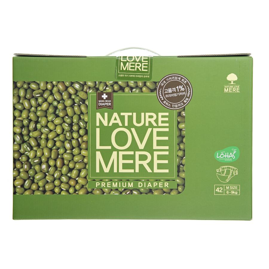 Подгузники Nature Love Mere Premium DiaperM 6-9 кг, 42 шт.