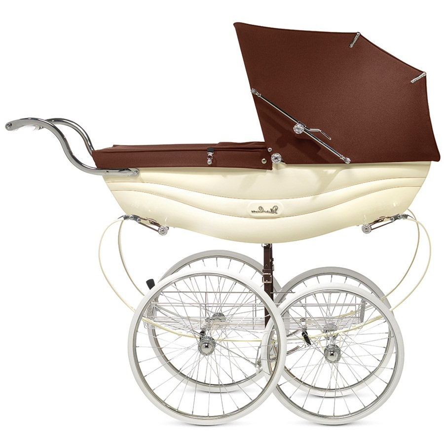 Купить Коляска для новорожденных Silver Cross Balmoral cream/brown, Коричневый, см. на уп.