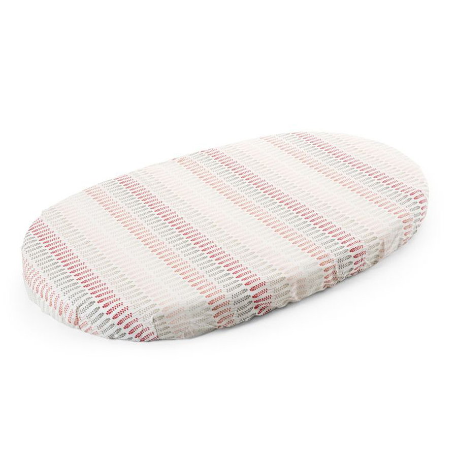 Простыня Stokke д/кроватки Sleepi на резинке Coral StrawПростыни<br><br>