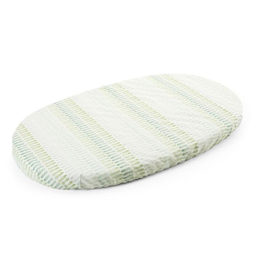 Простыня Stokke д/кроватки Sleepi на резинке Aqua StrawПростыни<br><br>