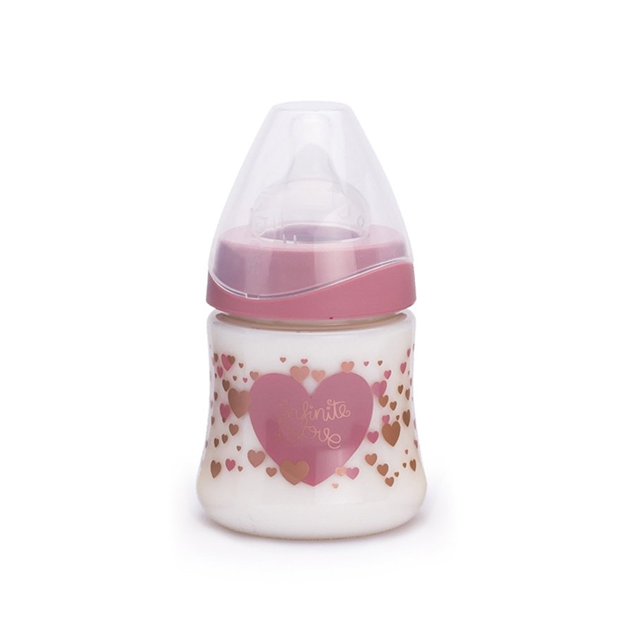 Бутылка Suavinex 150 мл от 0 мес.Haute Couture  с силиконовой круглой соскойДетская посуда и бутылочки<br><br>