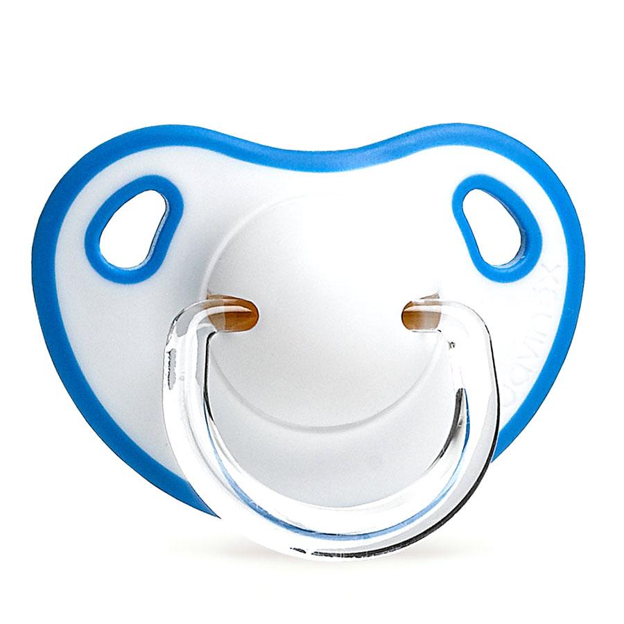 Пустышка Suavinex Comfort от 6 месяцев, анатомическая, силикон, синяя