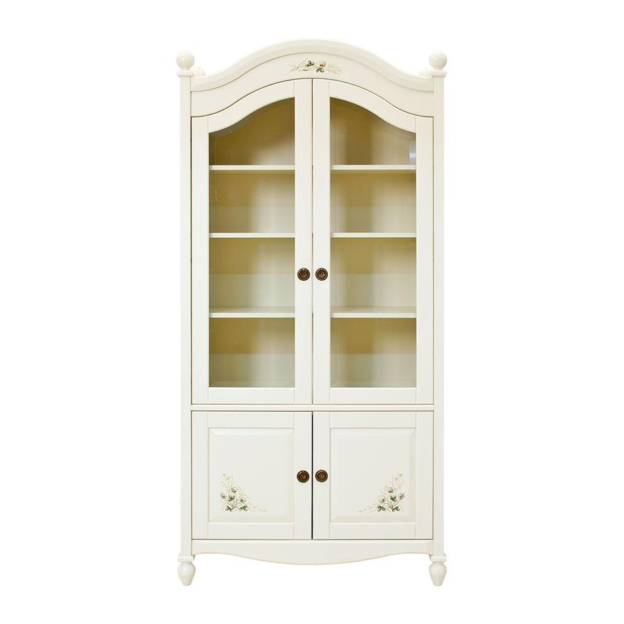 Шкаф книжный со стеклом Woodright OliverШкафы, стеллажи<br><br>