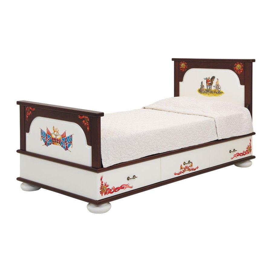 Подростковая кровать с ящиками Woodright Willie Winkie Royal GuardsmenКровати для подростков<br><br>