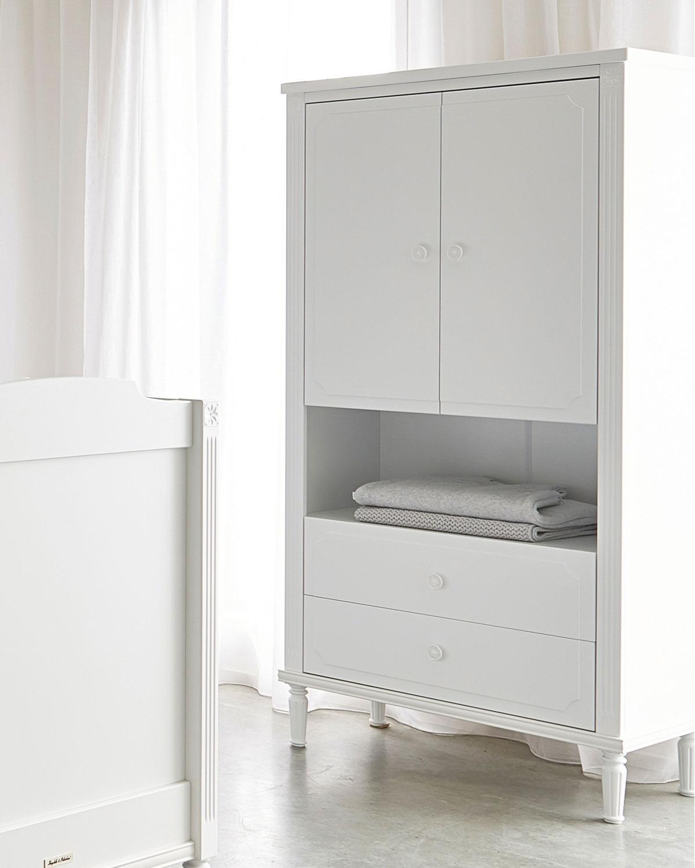 Шкаф с открытой полкой коллекция коллекция Louis, белыйШкафы, стеллажи<br><br>