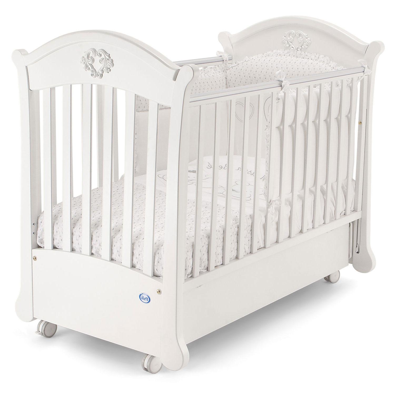 Кровать-маятник коллекция Angelica (цвет белый)Кровати для новорождённых<br><br>