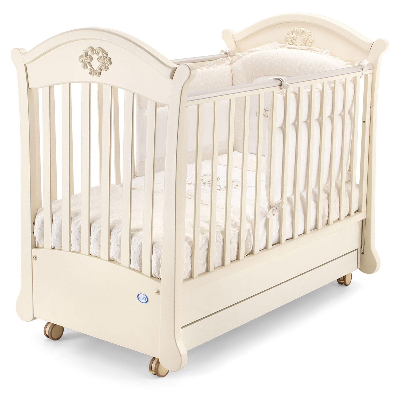 Кровать-маятник коллекция Angelica (цвет магнолия)Кровати для новорождённых<br><br>