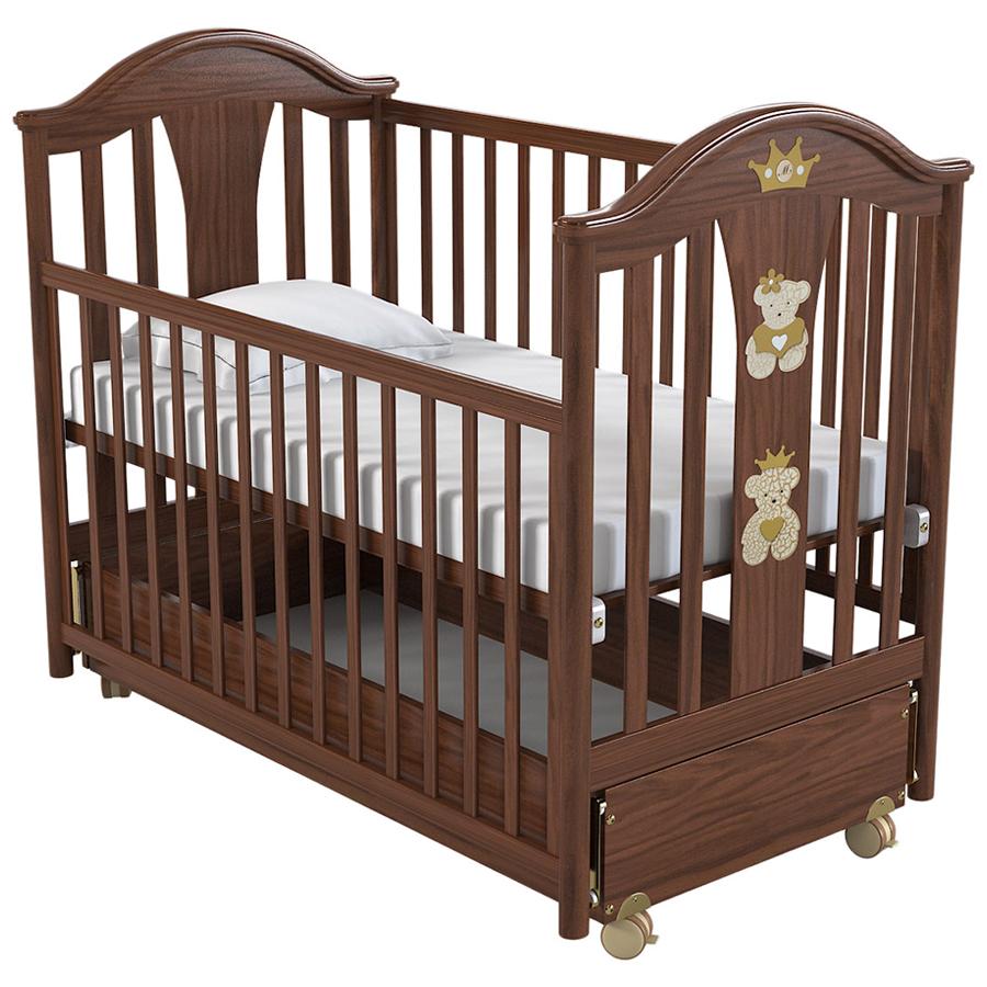 Кровать Pali -маятник Capriccio орехКровати для новорождённых<br><br>