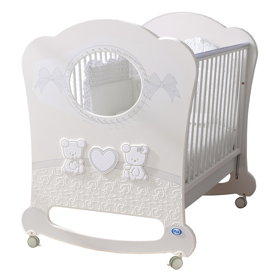 Кровать Pali Smart Maison Bebe Oblo белый/серыйКровати для новорождённых<br><br>