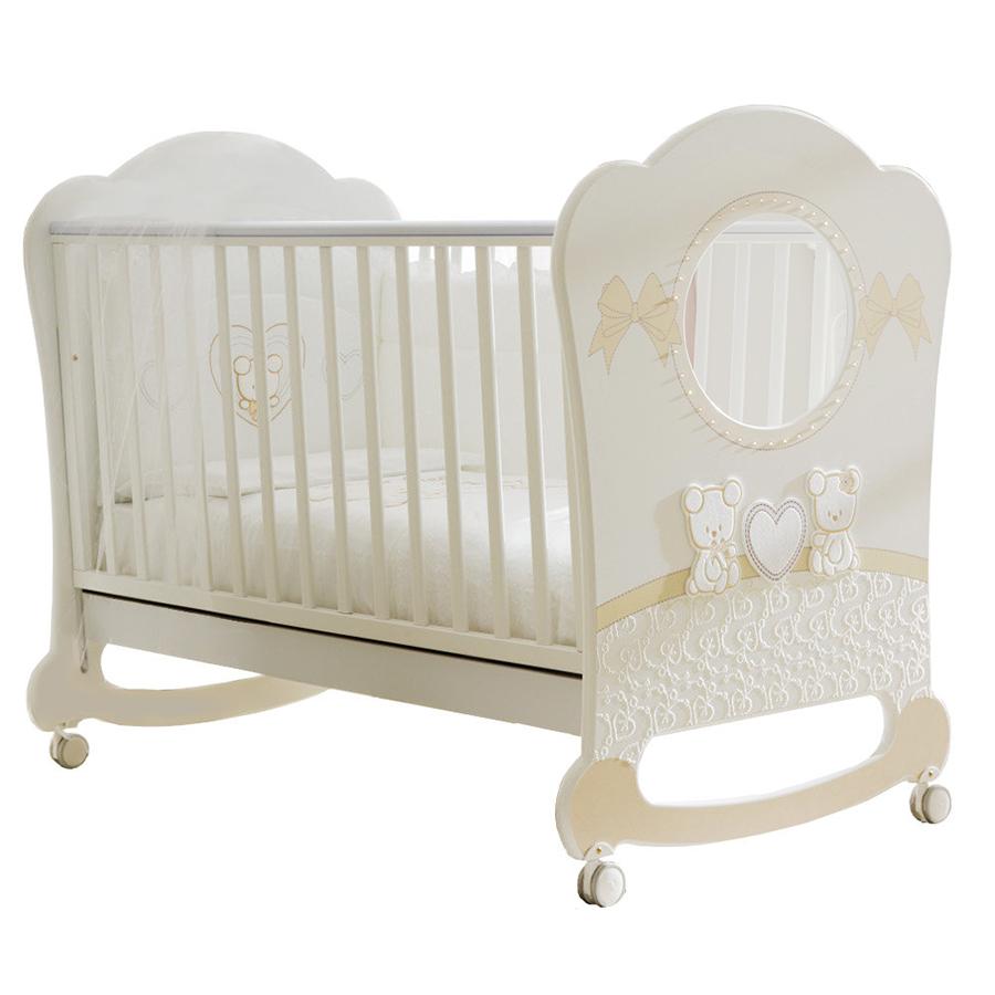 Кровать Pali Smart Maison Bebe Oblo белый/магнолияКровати для новорождённых<br><br>