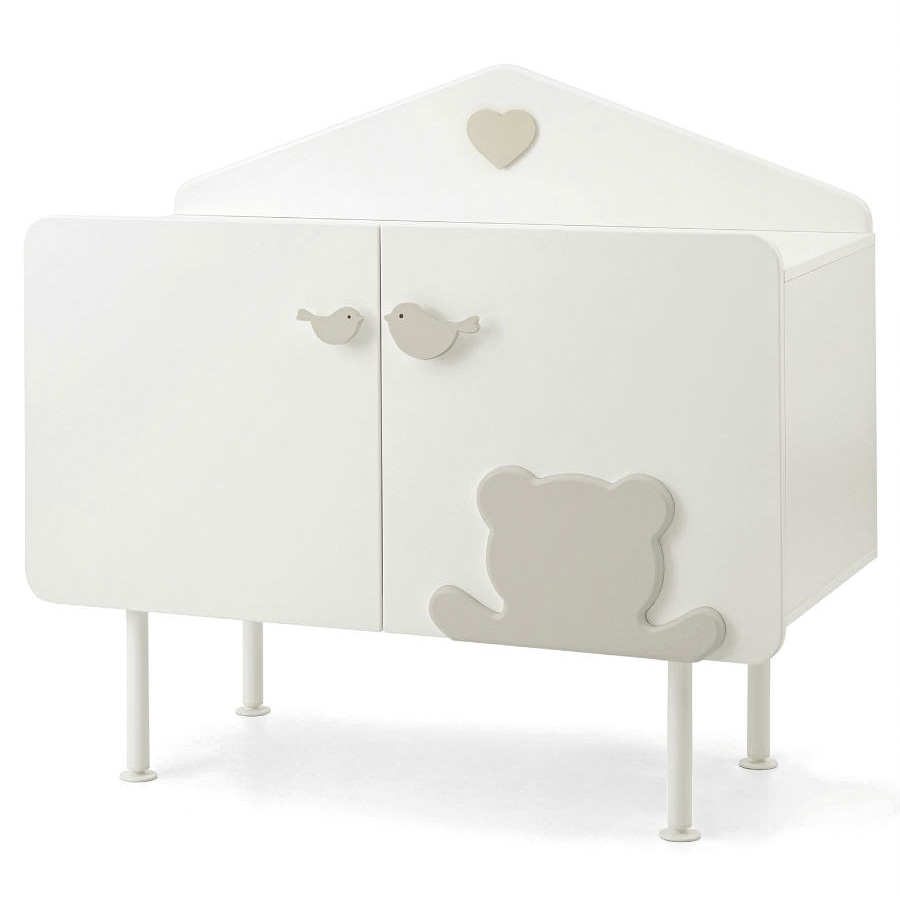 Комод Baby Expert La Casetta белый/серый
