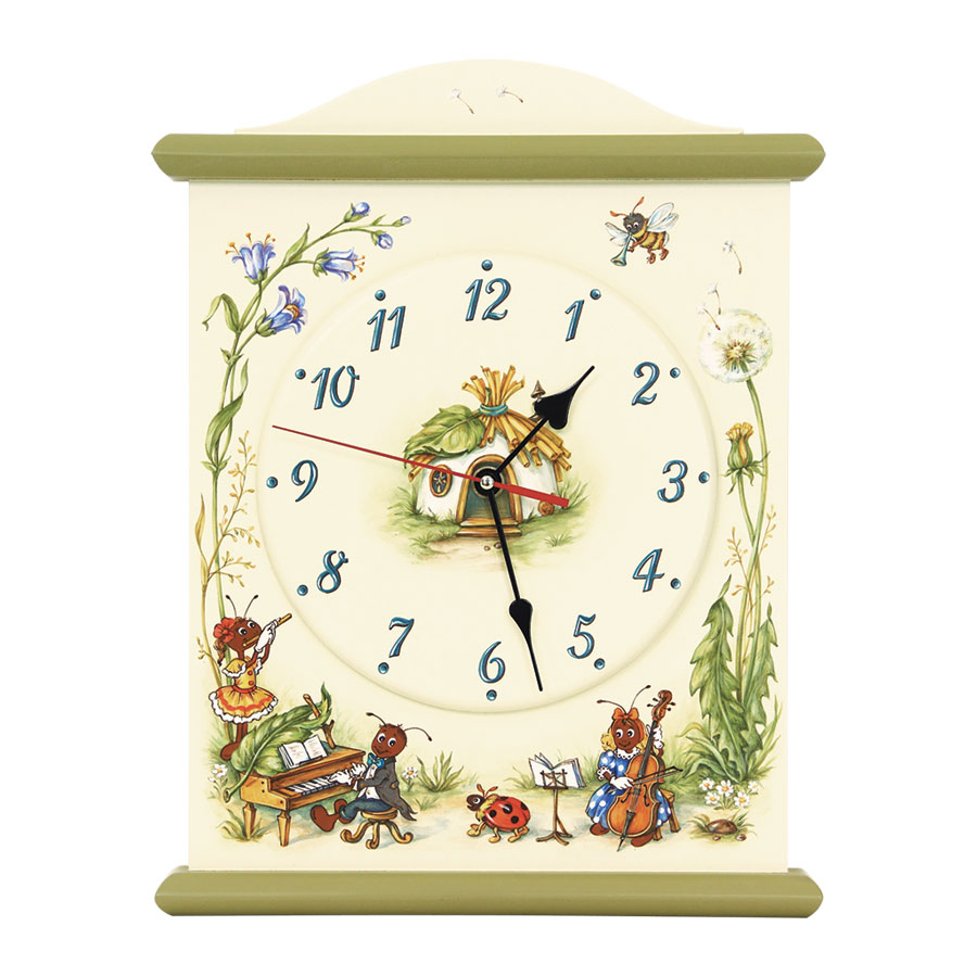 Часы настенные Woodright Willie Winkie Ants Village цветные