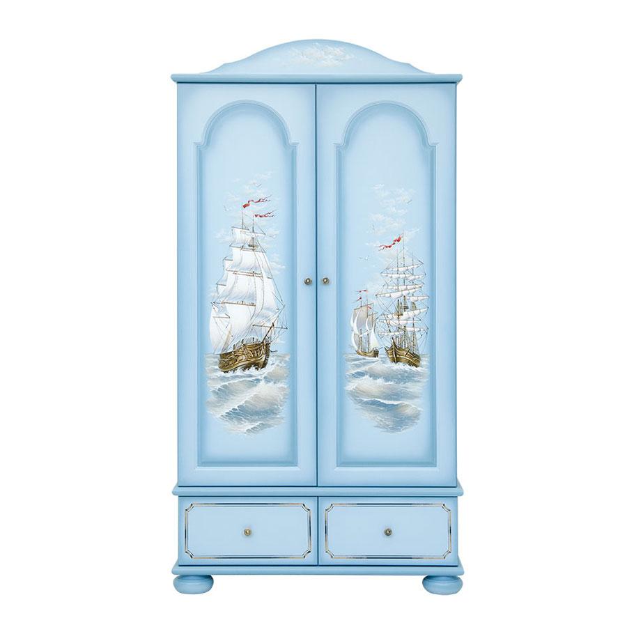 Шкаф для одежды Woodright Willie Winkie Brigantine bluШкафы, стеллажи<br><br>