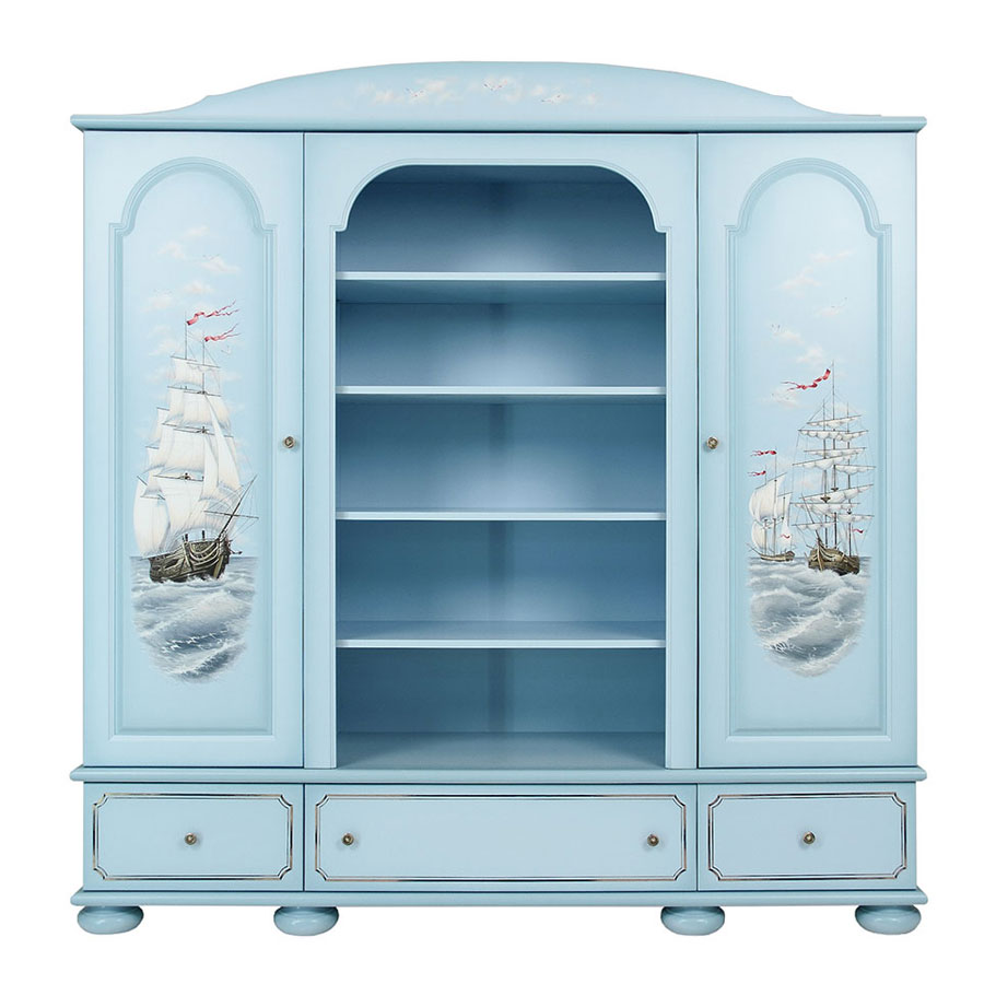 Шкаф комбинированный Woodright Willie Winkie Brigantine blu